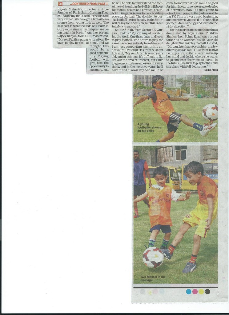 Gurgaon Times- 8 July - contd. on Page 6